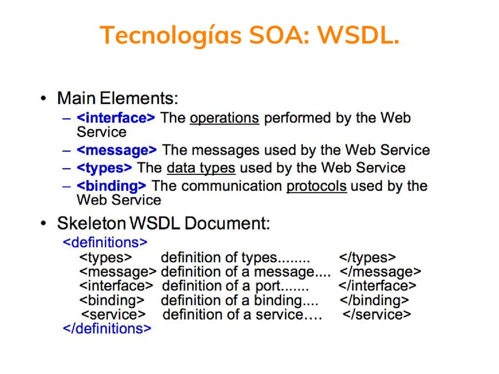 Tecnologías SOA: WSDL.