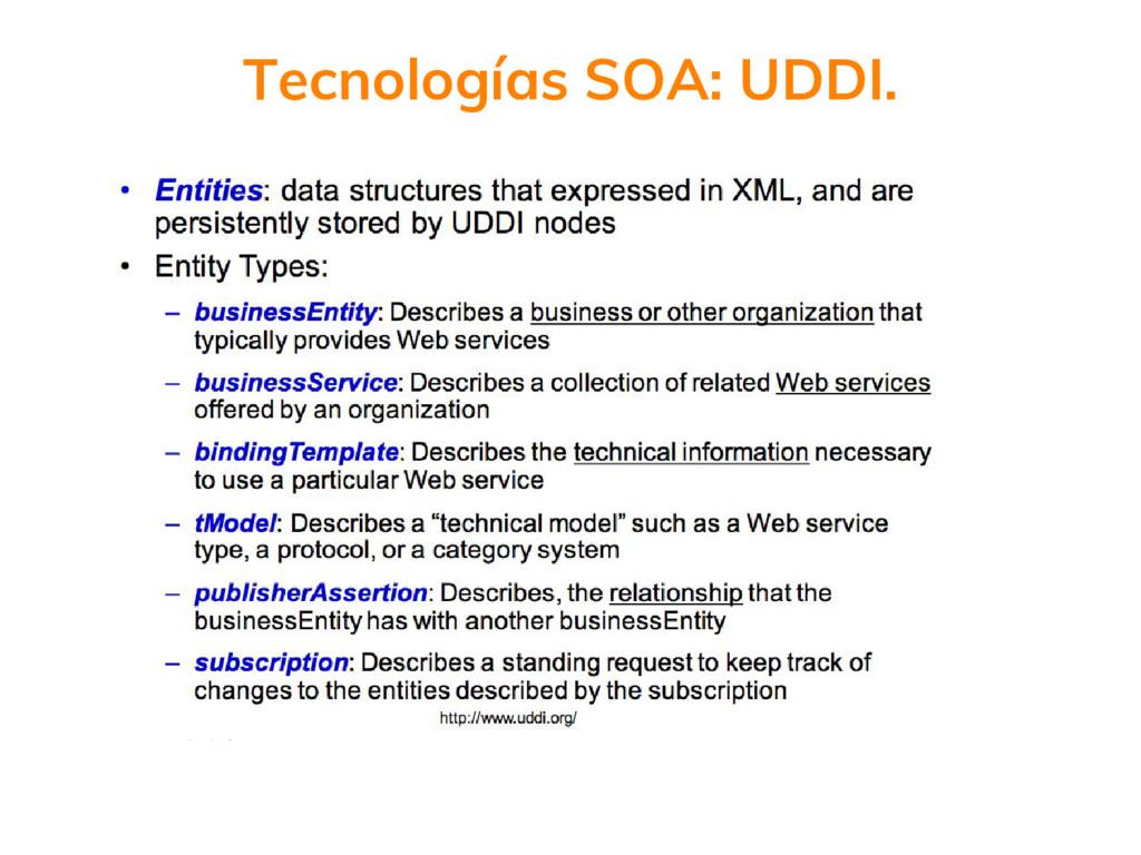 Tecnologías SOA: UDDI.