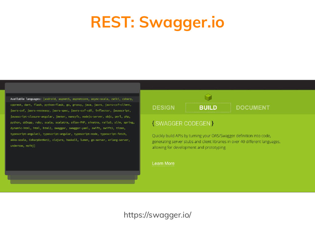 https://swagger.io/ REST: Swagger.io