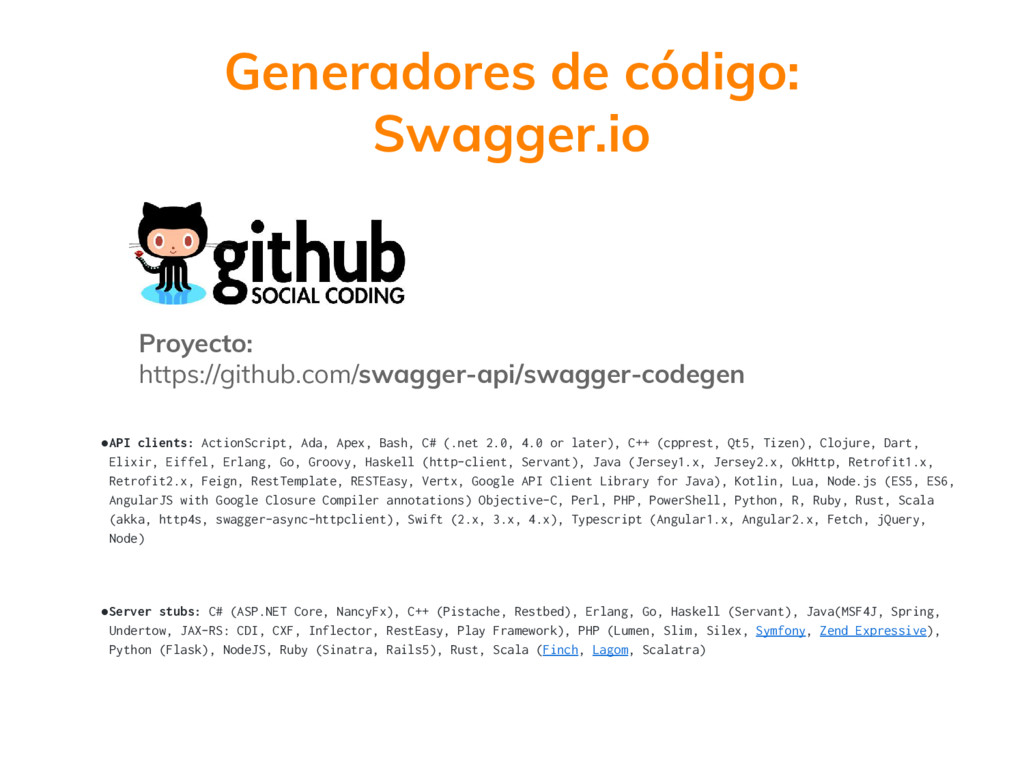 Proyecto: https://github.com/swagger-api/swagge...