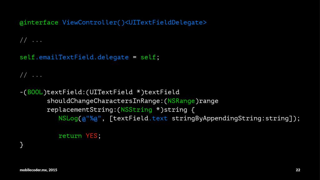 @interface ViewController()<UITextFieldDelegate...