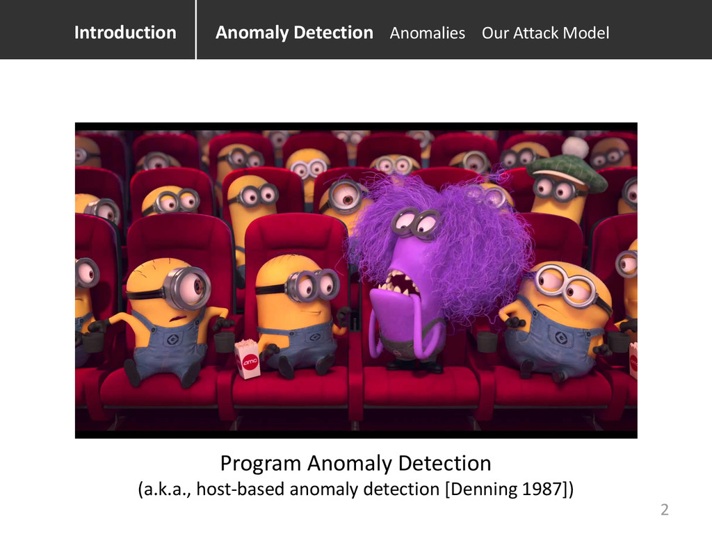Anomaly Detection Anomalies Our Attack Model Pr...