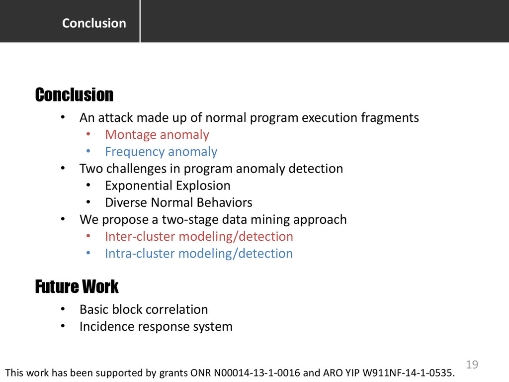 Conclusion • An attack made up of normal progra...