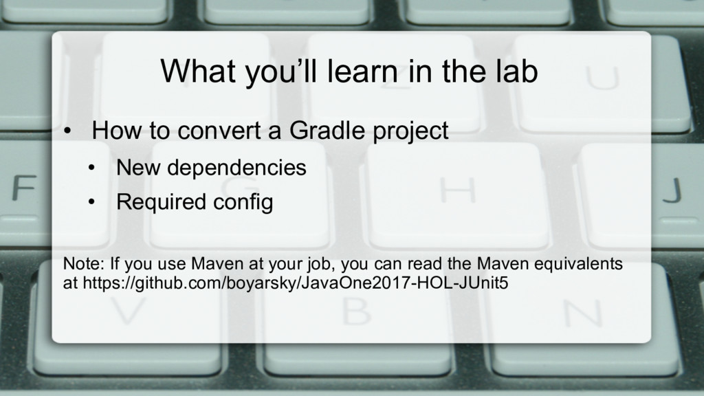 What you'll learn in the lab • How to convert ...