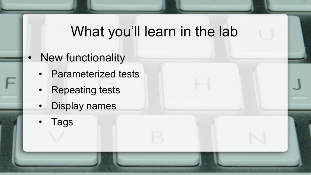 What you'll learn in the lab • New functionali...