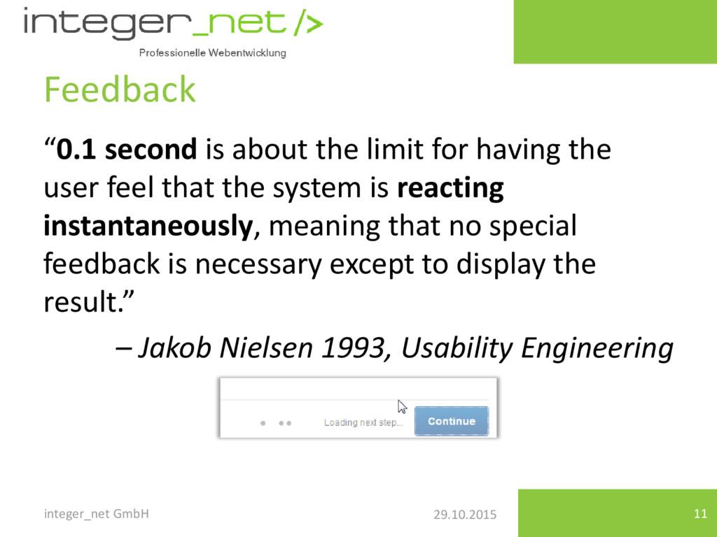 """29.10.2015 Feedback integer_net GmbH 11 """"0.1 se..."""