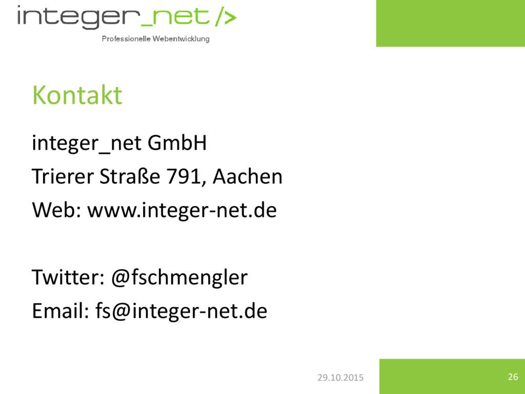 29.10.2015 integer_net GmbH Trierer Straße 791,...