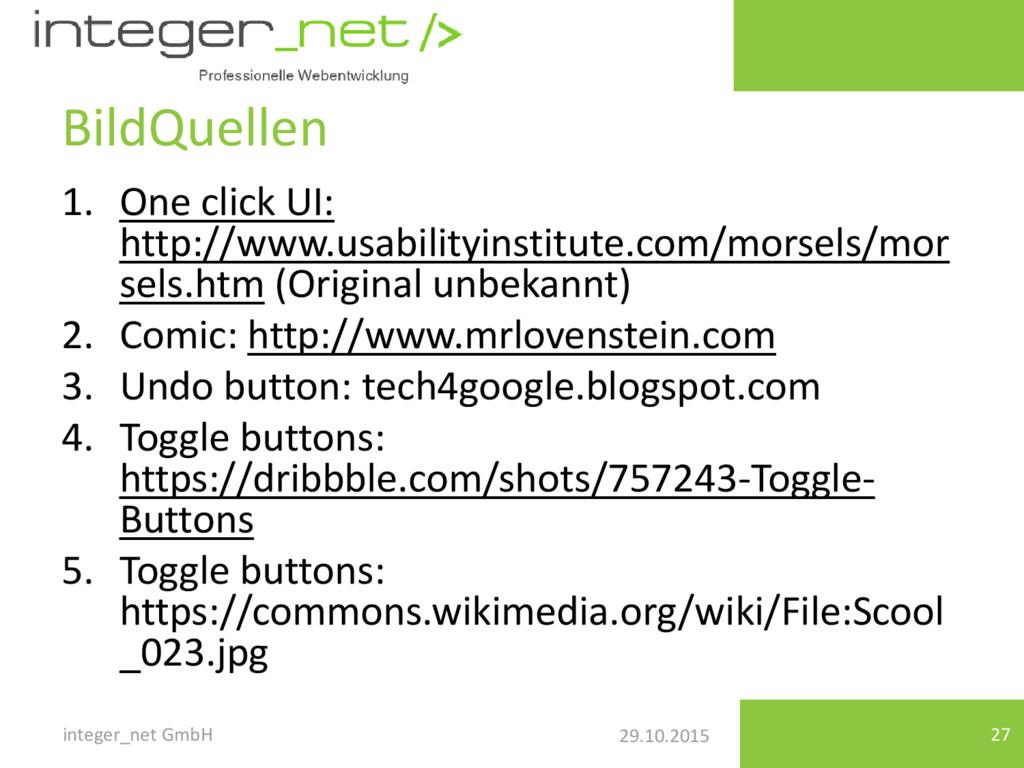 29.10.2015 BildQuellen 1. One click UI: http://...