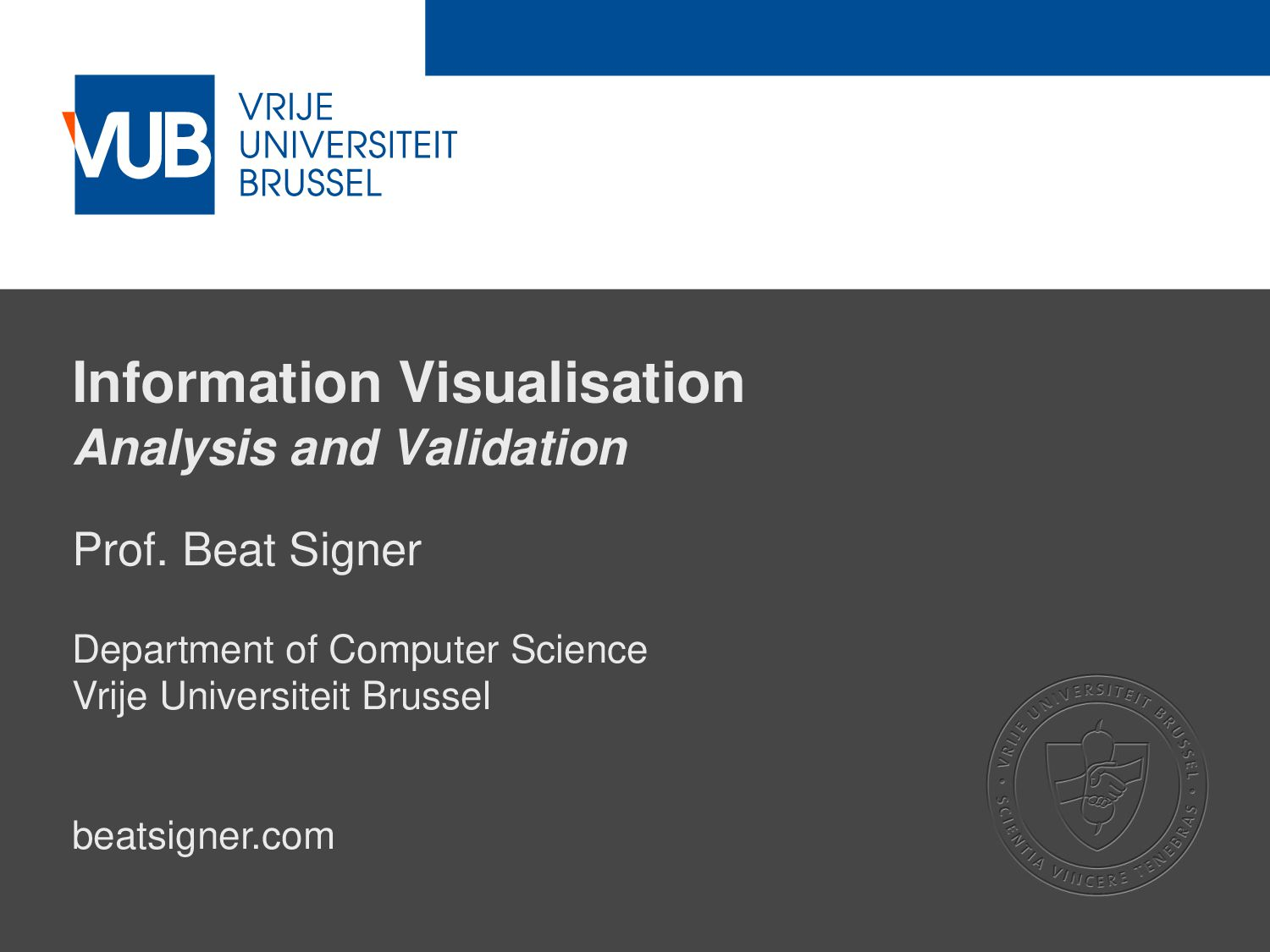 2 December 2005 Information Visualisation Analy...