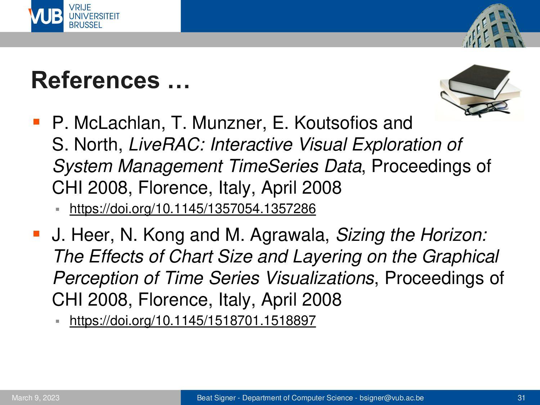 2 December 2005 Next Lecture Data Presentation