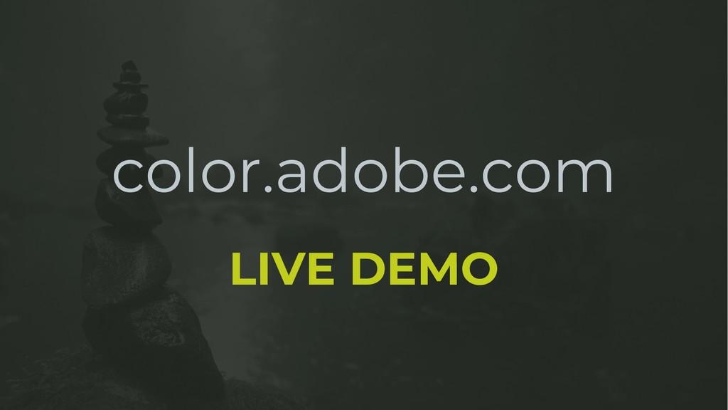 color.adobe.com LIVE DEMO