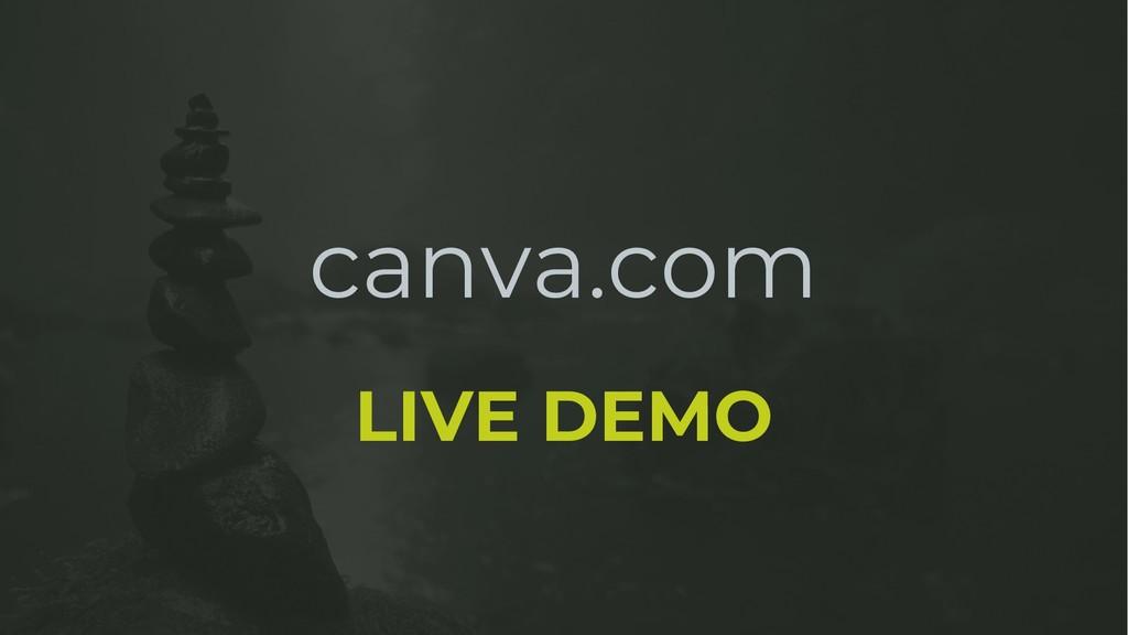 canva.com LIVE DEMO