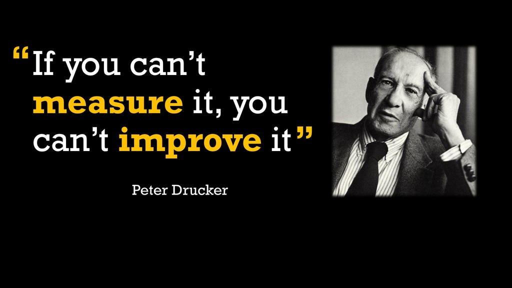 If you can't measure it, you can't improve it P...