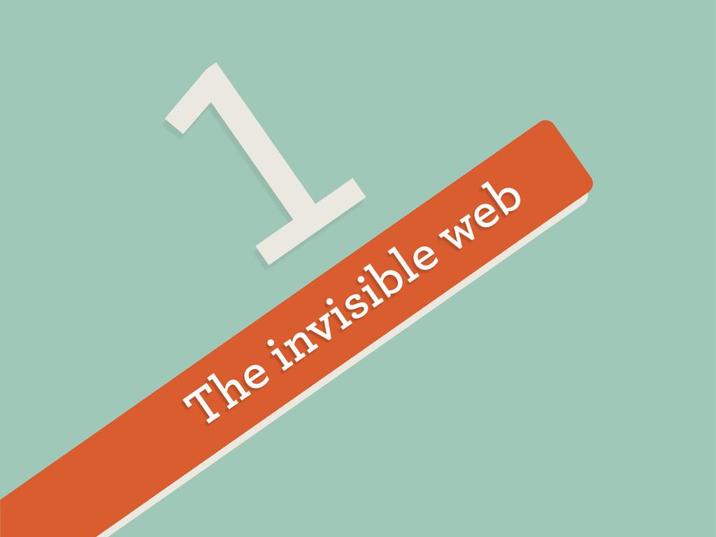 The invisible web 1