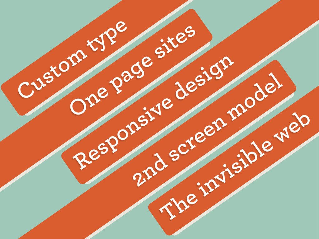 The invisible web 2nd screen model Responsive d...