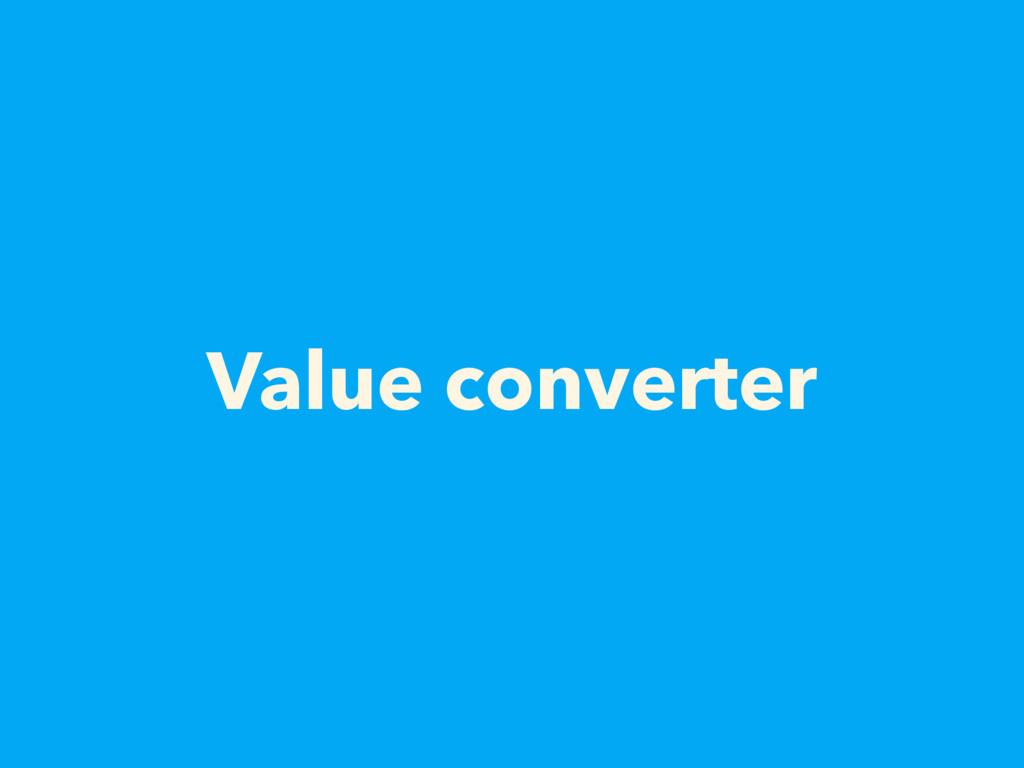 Value converter