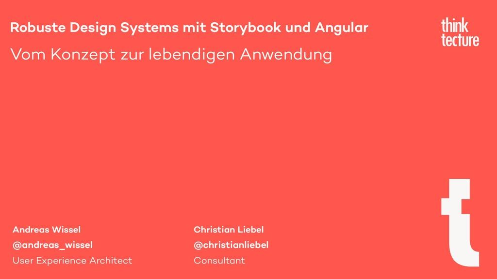 Robuste Design Systems mit Storybook und Angula...