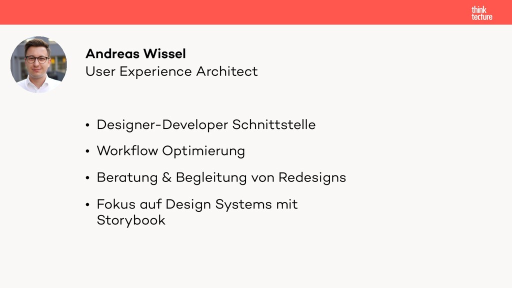 User Experience Architect Andreas Wissel • Desi...