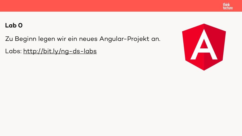 Zu Beginn legen wir ein neues Angular-Projekt a...