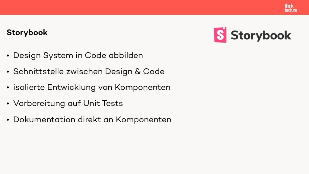 • Design System in Code abbilden • Schnittstell...