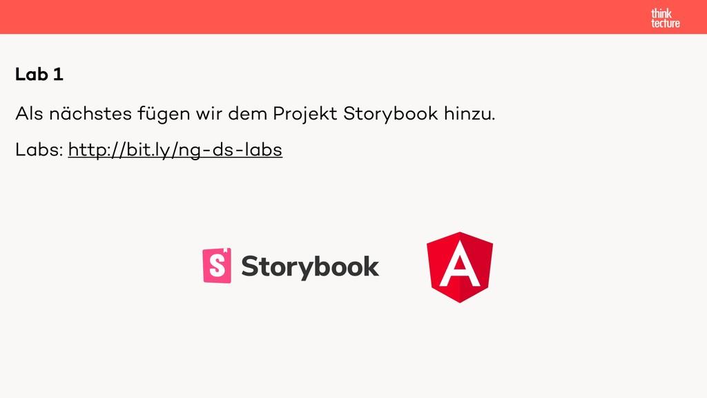 Als nächstes fügen wir dem Projekt Storybook hi...