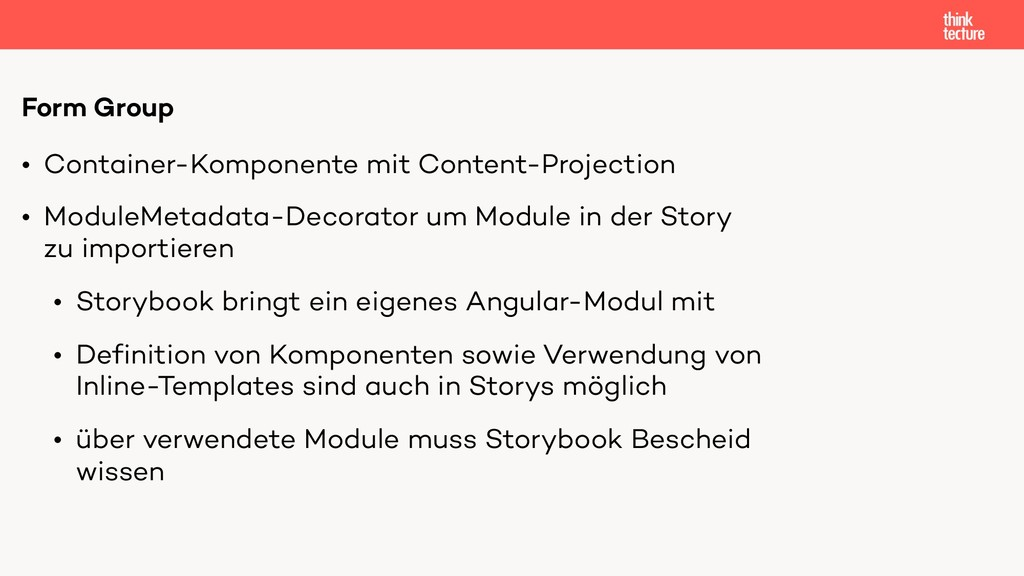 • Container-Komponente mit Content-Projection •...