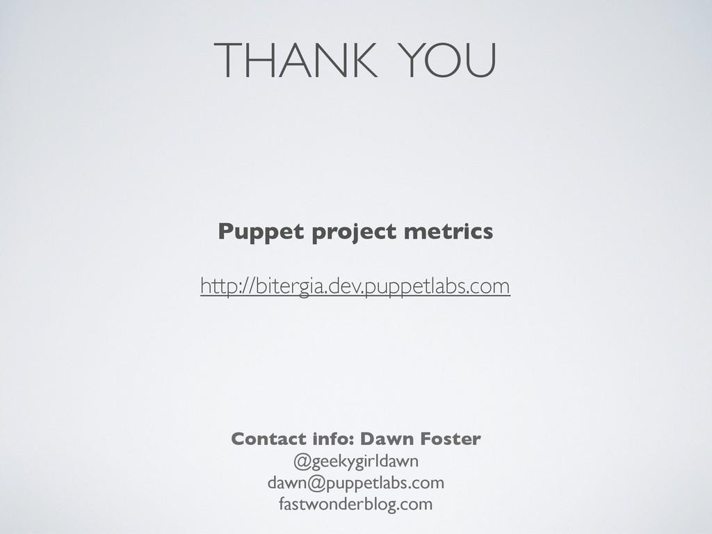 THANK YOU Contact info: Dawn Foster @geekygirld...