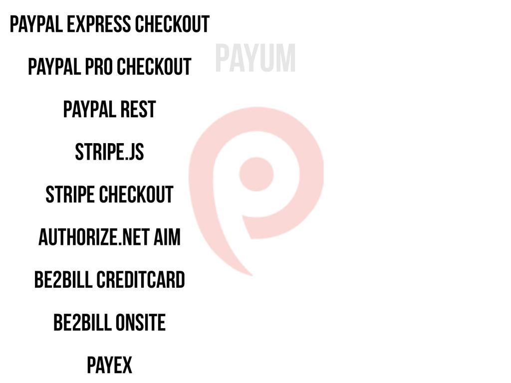 Payum Paypal Express Checkout Paypal Pro Checko...