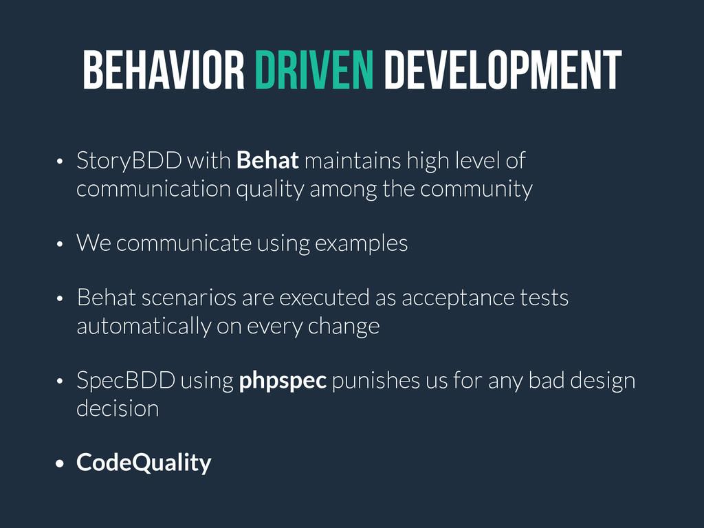 Behavior DRIVEN DEVELOPMENT • StoryBDD with Beh...