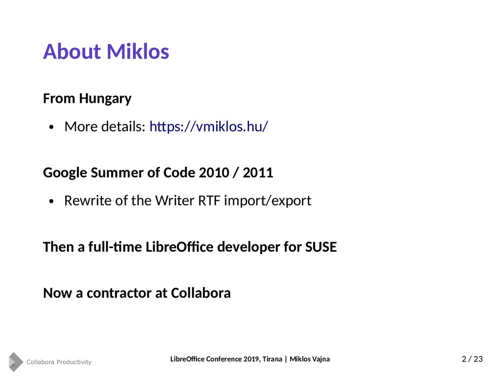Collabora Productivity LibreOffice Conference 2...