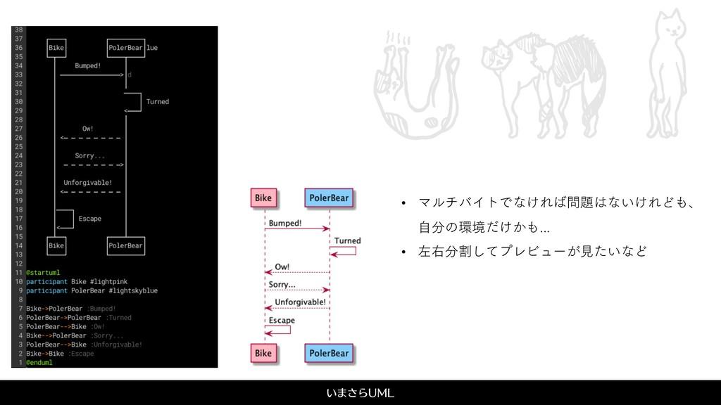 ͍·͞Β6.- UML • ϚϧνόΠτͰͳ͚Εͳ͍͚ΕͲɺ ࣗͷڥ͚͔ͩ...
