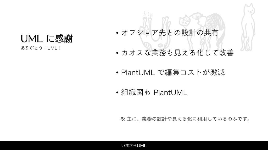 UML ͍·͞Β6.- 6.-ʹײँ • ΦϑγϣΞઌͱͷઃܭͷڞ༗ • ΧΦεͳۀݟ͑...