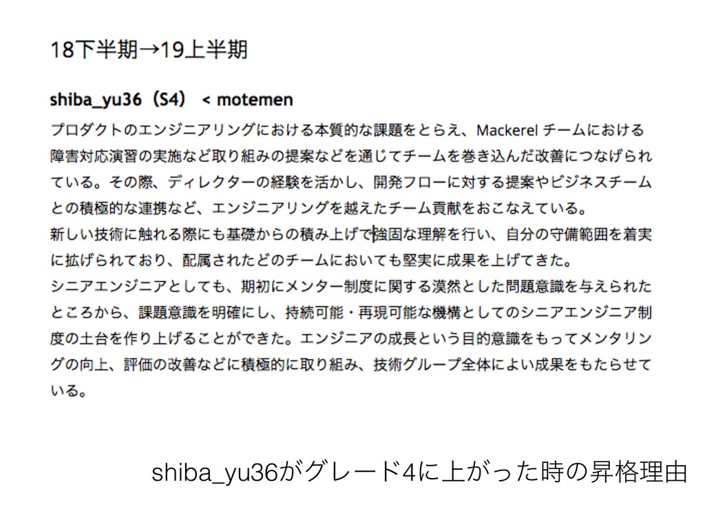 shiba_yu36͕άϨʔυ4ʹ্͕ͬͨͷঢ֨ཧ༝