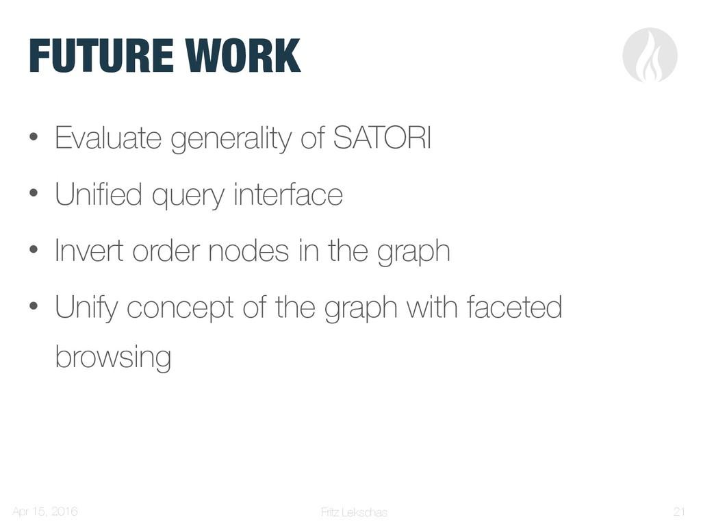 Fritz Lekschas FUTURE WORK • Evaluate generalit...