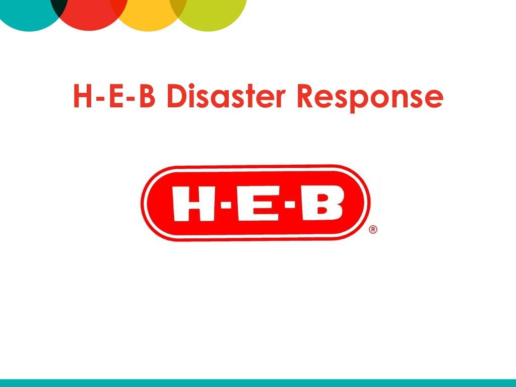 H-E-B Disaster Response