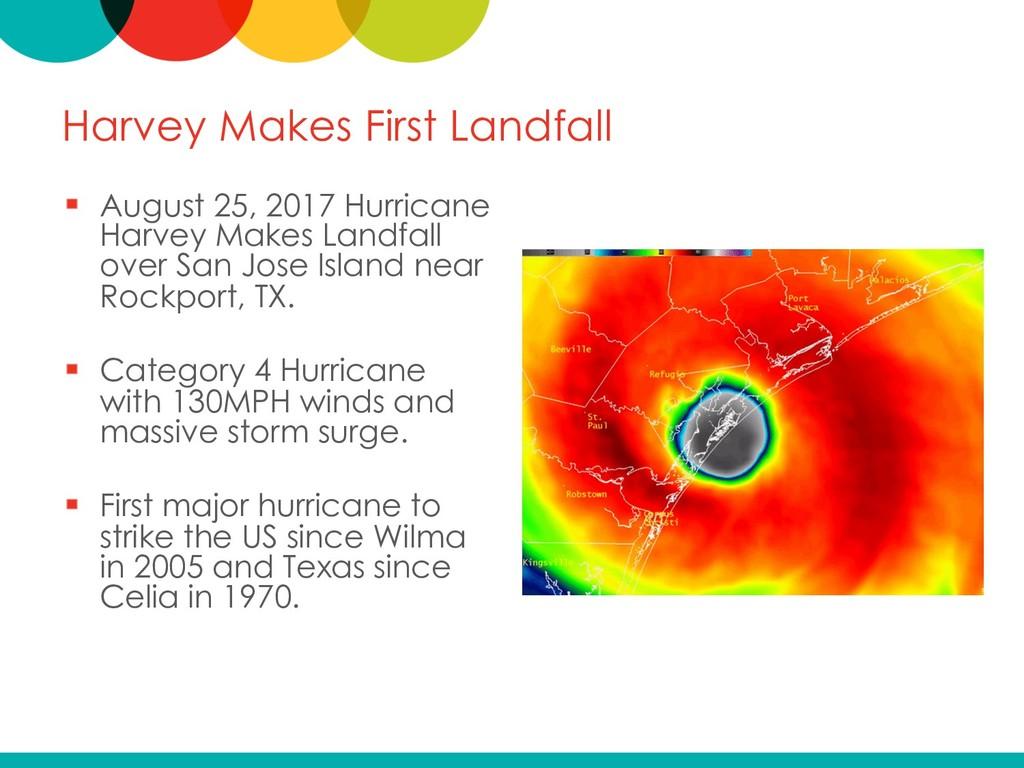 Harvey Makes First Landfall August 25, 2017 Hur...