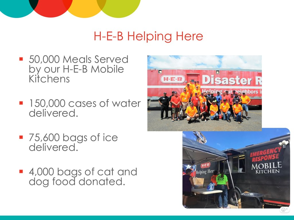 H-E-B Helping Here 50,000 Meals Served by our H...