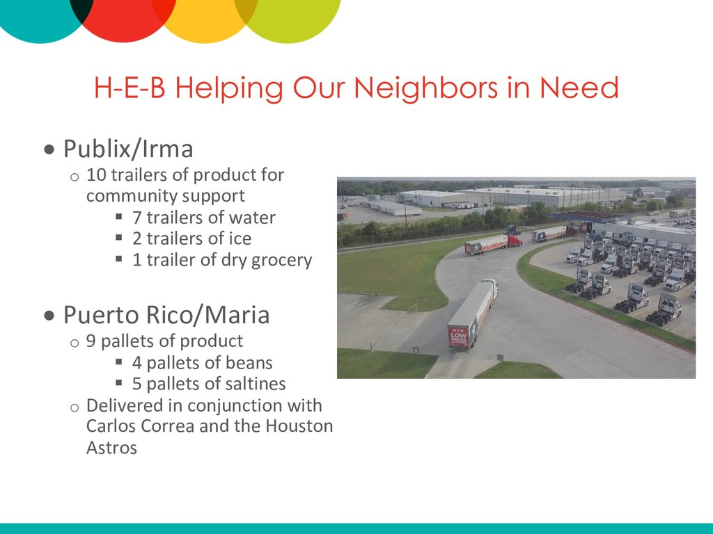 H-E-B Helping Our Neighbors in Need • Publix/Ir...