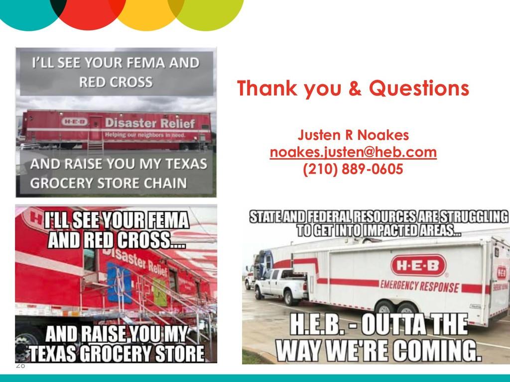 Thank you & Questions Justen R Noakes noakes.ju...