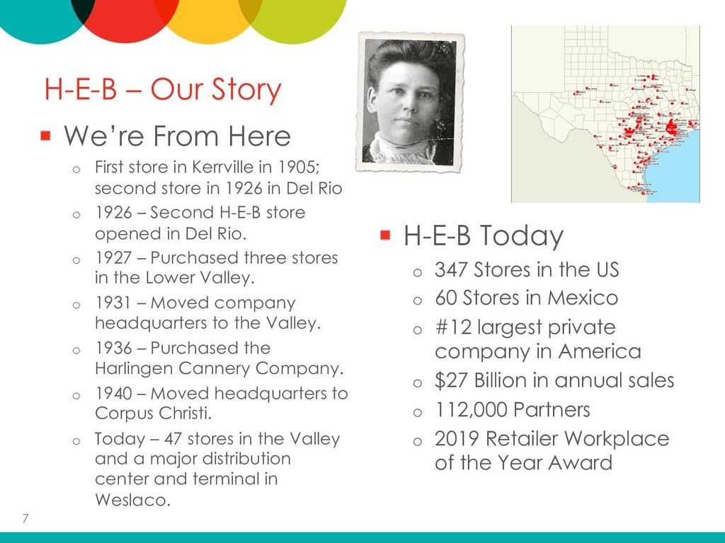 H-E-B – Our Story We're From Here o First store...