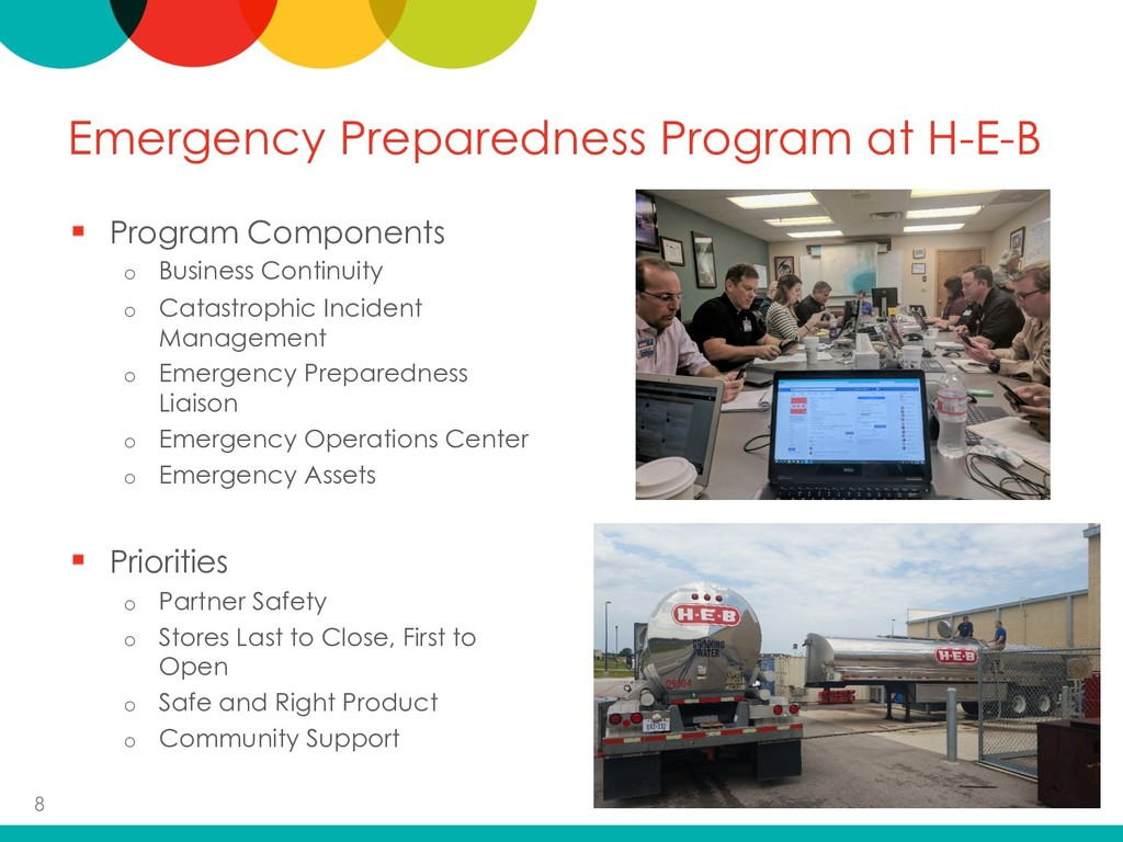 Emergency Preparedness Program at H-E-B Program...