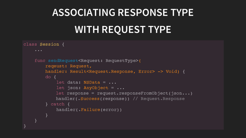 ASSOCIATING RESPONSE TYPE WITH REQUEST TYPE c l...