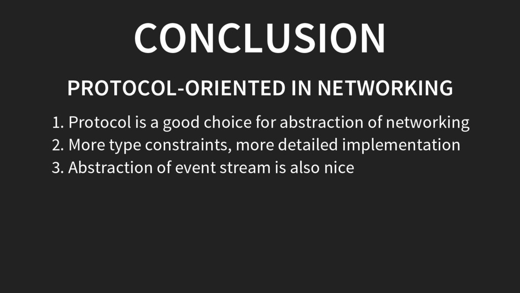CONCLUSION PROTOCOL-ORIENTED IN NETWORKING 1. P...