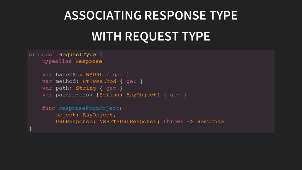 ASSOCIATING RESPONSE TYPE WITH REQUEST TYPE p r...