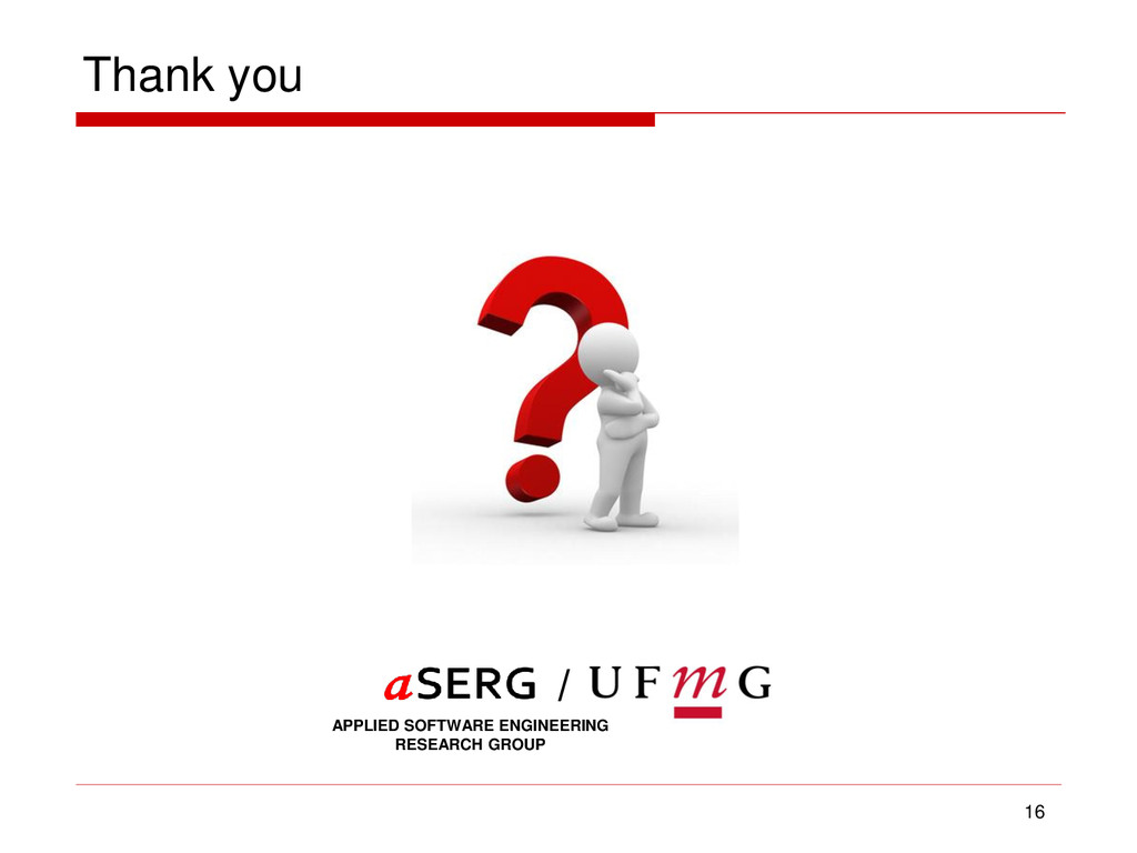 Thank you 16 APPLIED SOFTWARE ENGINEERING RESEA...
