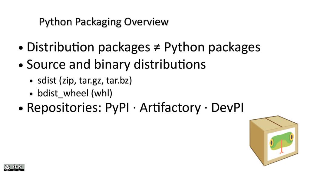 Python Packaging Overview Python Packaging Over...