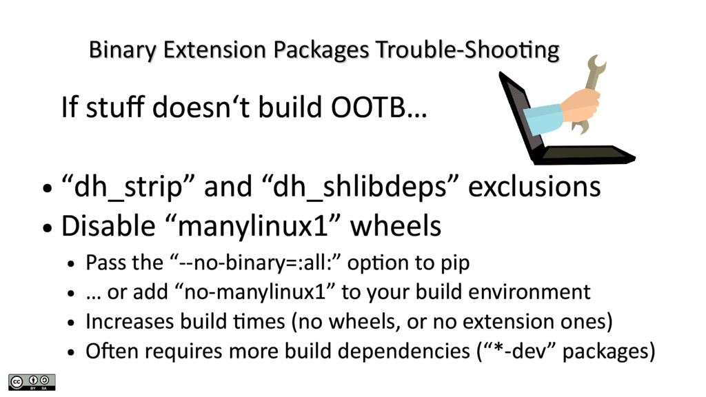 Binary Extension Packages Trouble-Shooting Bina...