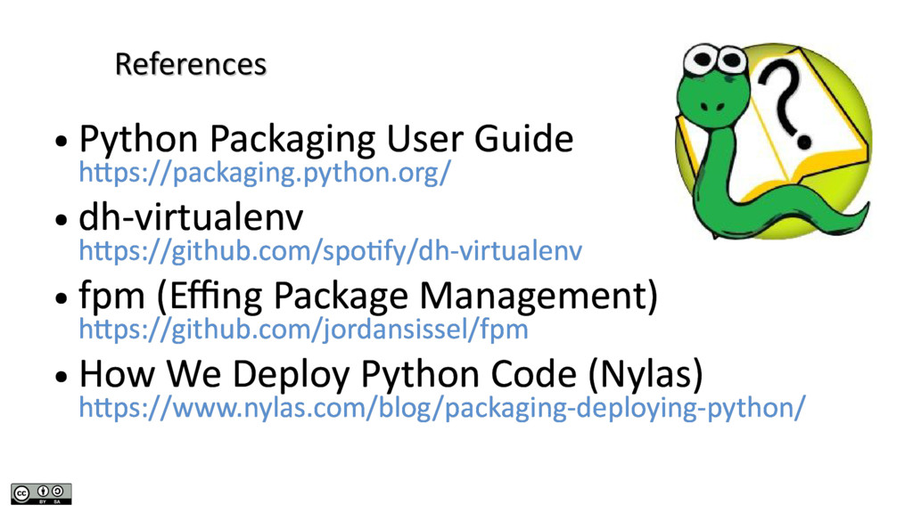References References ● Python Packaging User G...