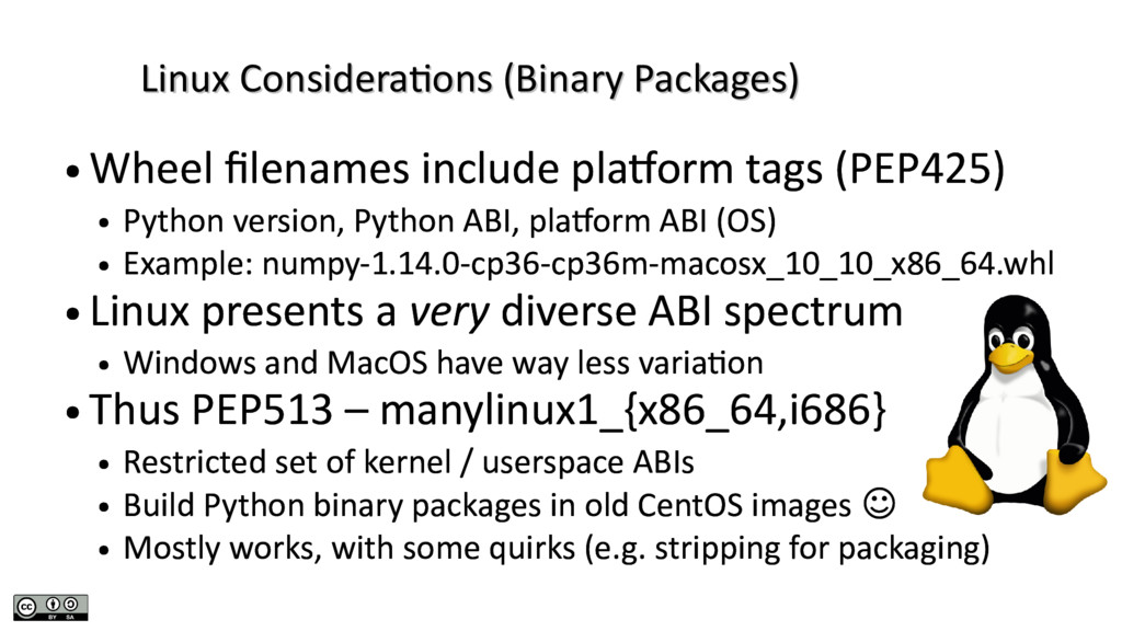 Linux Considerations (Binary Packages) Linux Co...