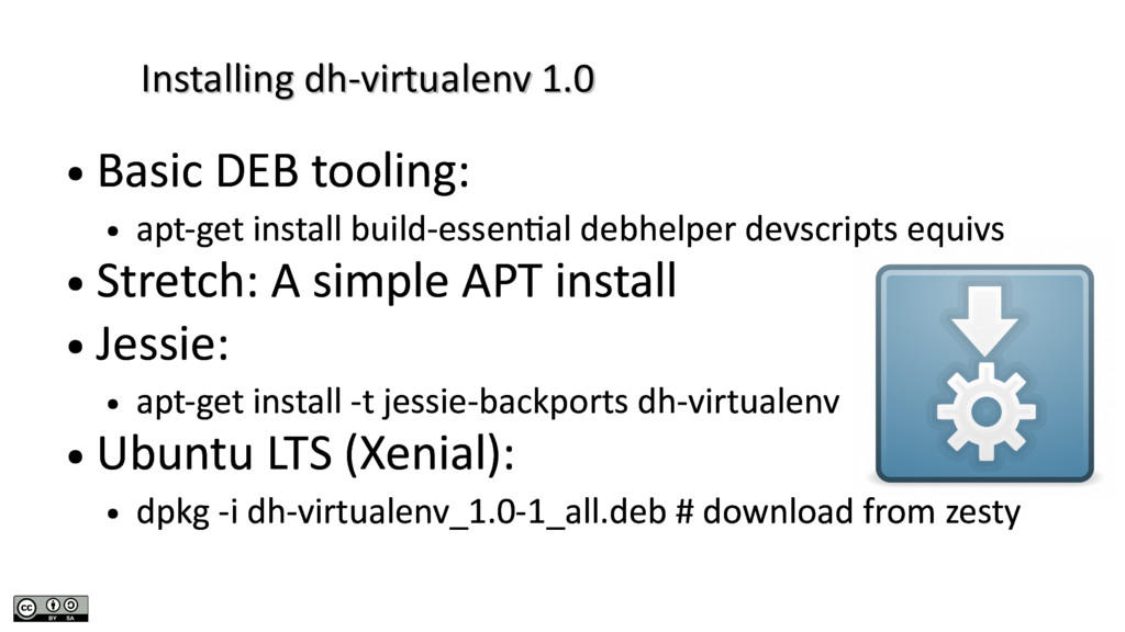 Installing dh-virtualenv 1.0 Installing dh-virt...